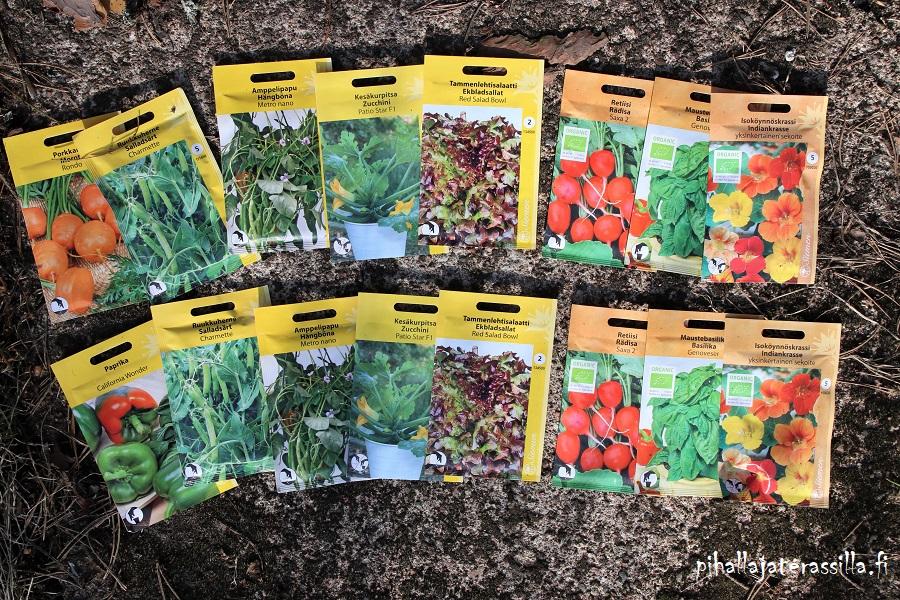Arvonta – siemeniä terassiruukkuun tai pihalle